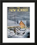 The New Yorker Cover - December 19, 1959 Framed Giclee Print by Charles Saxon