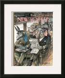 The New Yorker Cover - September 28, 1998 Framed Giclee Print by Edward Sorel