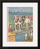 The New Yorker Cover - July 21, 1956 Framed Giclee Print by William Steig