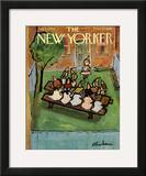 The New Yorker Cover - August 23, 1958 Framed Giclee Print by Abe Birnbaum
