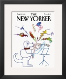 The New Yorker Cover - August 23, 1982 Framed Giclee Print by Saul Steinberg