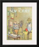 The New Yorker Cover - January 15, 1966 Framed Giclee Print by Charles Saxon