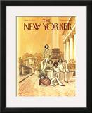 The New Yorker Cover - June 10, 1974 Framed Giclee Print by Charles Saxon
