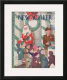 The New Yorker Cover - December 2, 1944 Framed Giclee Print by William Cotton