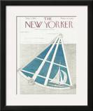 The New Yorker Cover - September 3, 1955 Framed Giclee Print by Ilonka Karasz