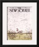 The New Yorker Cover - October 4, 1976 Framed Giclee Print by Ronald Searle
