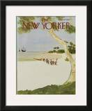The New Yorker Cover - October 13, 1975 Framed Giclee Print by James Stevenson