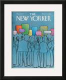 The New Yorker Cover - March 14, 1977 Framed Giclee Print by Charles Saxon