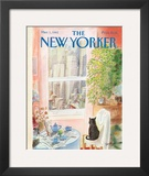 The New Yorker Cover - March 1, 1982 Framed Giclee Print by Jean-Jacques Sempé
