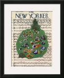 The New Yorker Cover - July 23, 1955 Framed Giclee Print by Ilonka Karasz