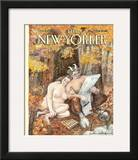 The New Yorker Cover - October 4, 1993 Framed Giclee Print by Edward Sorel