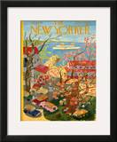 The New Yorker Cover - January 8, 1955 Framed Giclee Print by Ilonka Karasz