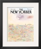 The New Yorker Cover - October 3, 1983 Framed Giclee Print by Saul Steinberg