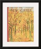 The New Yorker Cover - October 8, 1955 Framed Giclee Print by Abe Birnbaum