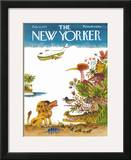 The New Yorker Cover - February 10, 1975 Framed Giclee Print by Joseph Low