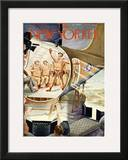 The New Yorker Cover - January 8, 1944 Framed Giclee Print by Constantin Alajalov