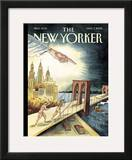 The New Yorker Cover - March 7, 2005 Framed Giclee Print by Marcellus Hall