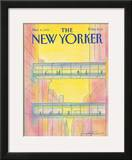 The New Yorker Cover - March 4, 1985 Framed Giclee Print by Eugène Mihaesco