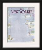 The New Yorker Cover - April 7, 1986 Framed Giclee Print by Eugène Mihaesco