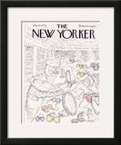 The New Yorker Cover - July 15, 1974 Framed Giclee Print by Edward Koren