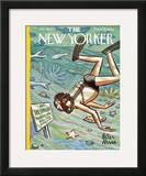 The New Yorker Cover - January 28, 1956 Framed Giclee Print by Peter Arno