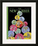 The New Yorker Cover - December 10, 2007 Framed Giclee Print by Joost Swarte