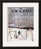 The New Yorker Cover - January 5, 1963 Framed Giclee Print by James Stevenson