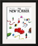 The New Yorker Cover - December 24, 1984 Framed Giclee Print by Pierre LeTan