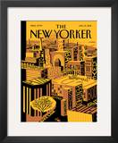 The New Yorker Cover - January 31, 2011 Framed Giclee Print by Frank Viva
