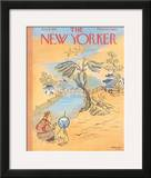 The New Yorker Cover - January 12, 1957 Framed Giclee Print by Anatol Kovarsky