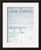 The New Yorker Cover - February 7, 1977 Framed Giclee Print by James Stevenson