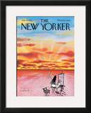 The New Yorker Cover - July 16, 1973 Framed Giclee Print by Ronald Searle