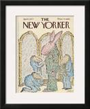 The New Yorker Cover - April 11, 1977 Framed Giclee Print by Edward Koren