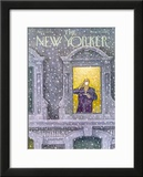 The New Yorker Cover - January 12, 1976 Framed Giclee Print by Charles Saxon
