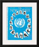 The New Yorker Cover - March 23, 1957 Framed Giclee Print by Mario Micossi