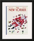 The New Yorker Cover - December 28, 1987 Framed Giclee Print by Lonni Sue Johnson