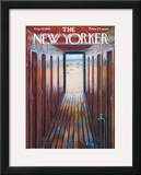 The New Yorker Cover - August 16, 1958 Framed Giclee Print by Edna Eicke
