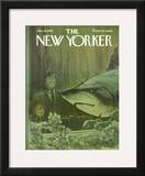 The New Yorker Cover - January 18, 1969 Framed Giclee Print by Charles Saxon