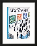 The New Yorker Cover - March 6, 1965 Framed Giclee Print by Mario Micossi