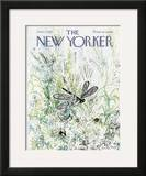 The New Yorker Cover - June 27, 1970 Framed Giclee Print by Ronald Searle