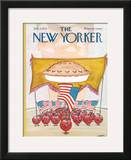 The New Yorker Cover - July 7, 1975 Framed Giclee Print by Robert Weber