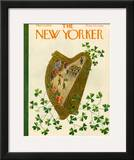 The New Yorker Cover - March 17, 1956 Framed Giclee Print by Ilonka Karasz