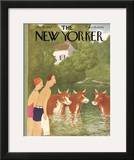 The New Yorker Cover - July 10, 1943 Framed Giclee Print by William Cotton