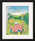 The New Yorker Cover - August 31, 1992 Framed Giclee Print by Bob Knox