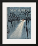 The New Yorker Cover - January 11, 1958 Framed Giclee Print by Abe Birnbaum