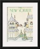 The New Yorker Cover - December 26, 1977 Framed Giclee Print by William Steig
