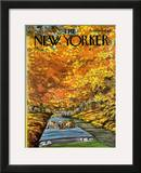 The New Yorker Cover - October 7, 1974 Framed Giclee Print by Charles Saxon