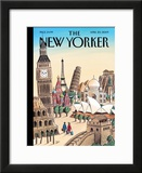 The New Yorker Cover - April 20, 2009 Framed Giclee Print by Jacques de Loustal