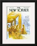 The New Yorker Cover - January 13, 1975 Framed Giclee Print by Arthur Getz