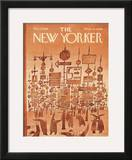 The New Yorker Cover - December 3, 1966 Framed Giclee Print by Jean Michel Folon